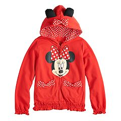 Disney's Minnie Mouse Girls 4-6x Minnie Bow Hoodie