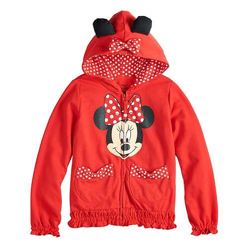 Disney's Minnie Mouse Girls 4-6x Minnie Bow Hoodie