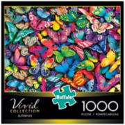Buffalo Games 1000-Piece Vivid: Butterflies Puzzle