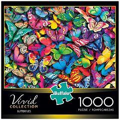 Buffalo Games 1000-Piece Vivid: Butterflies Puzzle