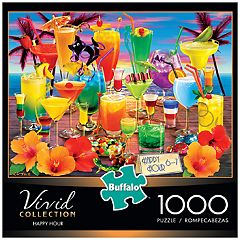 Buffalo Games 1000-Piece Vivid: Happy Hour Puzzle