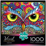 Buffalo Games 1000-Piece Vivid: Owl Eyes Puzzle