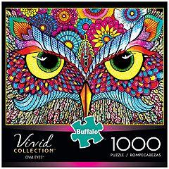 Buffalo Games 1000-Piece Vivid: Owl Eyes Puzzle