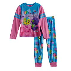 Girls 4-12 Hatchimals Top & Bottoms Pajama Set