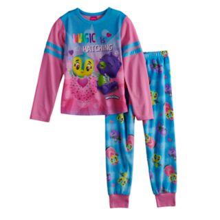 Girls 4-12 Hatchimals Top & Bottoms Pajama Set