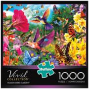 Buffalo Games 1000-Piece Vivid: Hummingbird Garden Puzzle