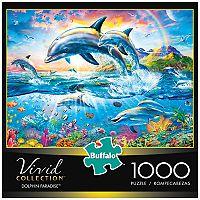 Buffalo Games 1000-Piece Vivid: Dolphin Paradise Puzzle