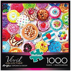 Buffalo Games 1000-Piece Vivid: Cupcakes & Cocoa Puzzle