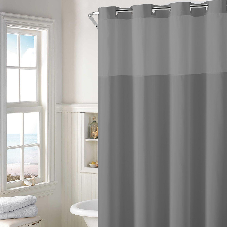 Hookless Plain Weave Shower Curtain U0026 Water Resistant Liner