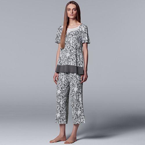 70ae5cdb16959 Women's Simply Vera Vera Wang Sleep Tee & Culottes Pajama Set