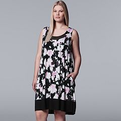 Plus Size Simply Vera Vera Wang Inset Mesh Chemise