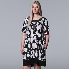 Plus Size Simply Vera Vera Wang Inset Mesh Sleepshirt