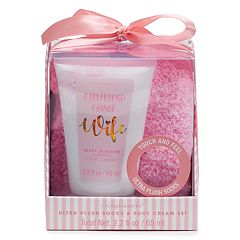 Simple Pleasures Bridal Fuzzy Socks & Foot Cream Set
