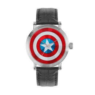 Marvel Comics Captain America Men's Leather Watch