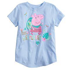 Girls 4-10 Jumping Beans® Peppa Pig 'Litter Explorer' Glittery Graphic Tee