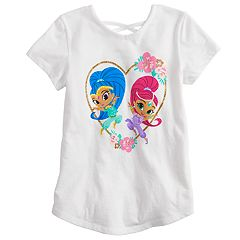 Girls 4-10 Jumping Beans® Shimmer & Shine Graphic Criss-Cross Back Top