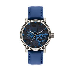 Marvel Comics Black Panther Men's Vintage Leather Watch