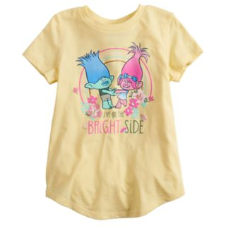 "Girls 4-12 Jumping Beans® Dreamworks Trolls ""Live On The Bright Side"" Graphic Tee"