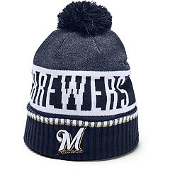 Men's Under Armour Milwaukee Brewers Team Pom Beanie