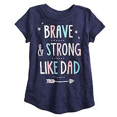 Girls 4-10 Jumping Beans® 'Brave & Strong Like Dad' Graphic Tee