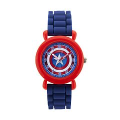 Marvel Comics Captain America Kids' Time Teacher Watch
