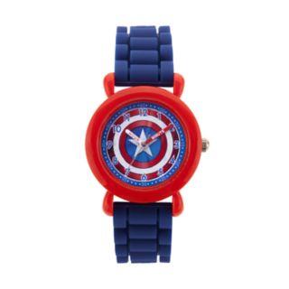 Marvel Comics Captain America Kids' Time Teacher Watch