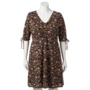 Plus Size LC Lauren Conrad Print Fit & Flare Dress