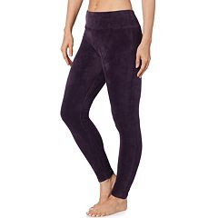 Plus Size Cuddl Duds Double Plush Velour Leggings