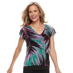 Women's Dana Buchman Print Layered Hem Top