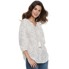 Women's SONOMA Goods for Life™ Crinkle Smocked Tunic