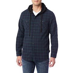 Men's Unionbay Unionbay Switchback Flannel Hooded Button-Down Shirt