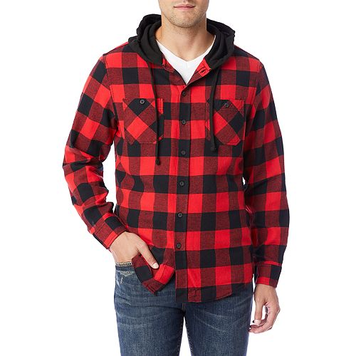Men's Unionbay Switchback Flannel Hooded Button-Down Shirt