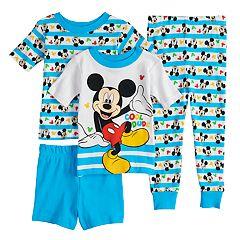 Disney's Mickey Mouse Toddler Boy 'Cool Dude' Tops, Shorts & Pants Pajama Set