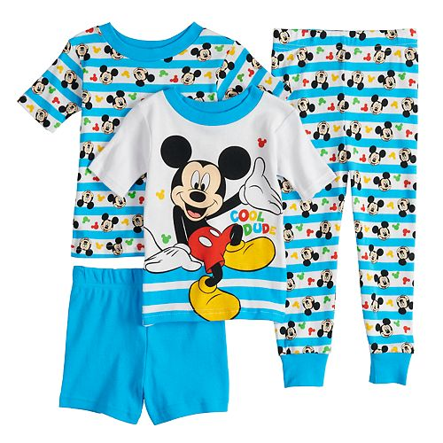 "Disney's Mickey Mouse Toddler Boy ""Cool Dude"" Tops, Shorts & Pants Pajama Set"