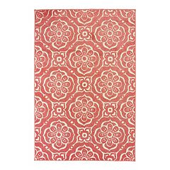 StyleHaven Belize Pastel Trellis Medallion Indoor Outdoor Rug