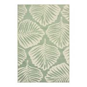 StyleHaven Belize Tropical Fare Leaf Indoor Outdoor Rug