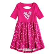 Girls 4-10 Jumping Beans® Elbow Sleeve Printed Dress