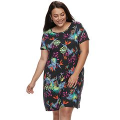 Plus Size Apt. 9® Cuffed T-Shirt Dress