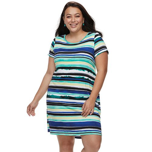 Plus Size Apt. 9® Cuffed T-Shirt Dress