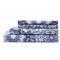 Grand Collection Spiro Cotton Print 300 Thread Count Sheet Set