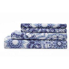 Grand Collection Spiro Cotton Print 300 Thread Count Sheet Set