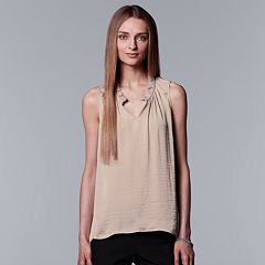 Women's Simply Vera Vera Wang Satin Ruched Tank