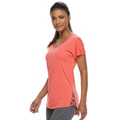 Women's Tek Gear® Lattice Hem Short Sleeve Tee