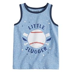 Toddler Boy Jumping Beans® Baseball 'Little Slugger' Tank Top