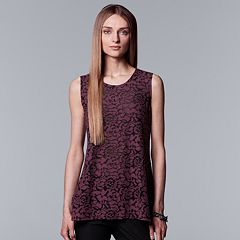 Women's Simply Vera Vera Wang Burnout Floral Tank