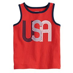 Toddler Boy Jumping Beans® 'USA' Jersey Tank Top