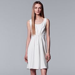 Women's Simply Vera Vera Wang Gathered-Waist Shift Dress