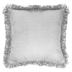 Popular Home Brayden Solid Fringe Throw Pillow