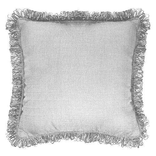 Popular Home Brayden Solid Fringe Throw Pillow