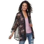 Women's Mudd® Short Floral Kimono